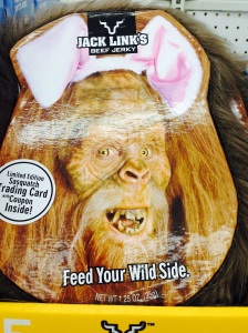 Because doesn't every child want Sasquatch Beef Jerky in his/her Easter basket?